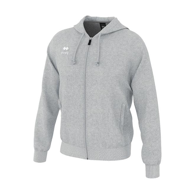 Wire hoodie met ritsluiting grijs