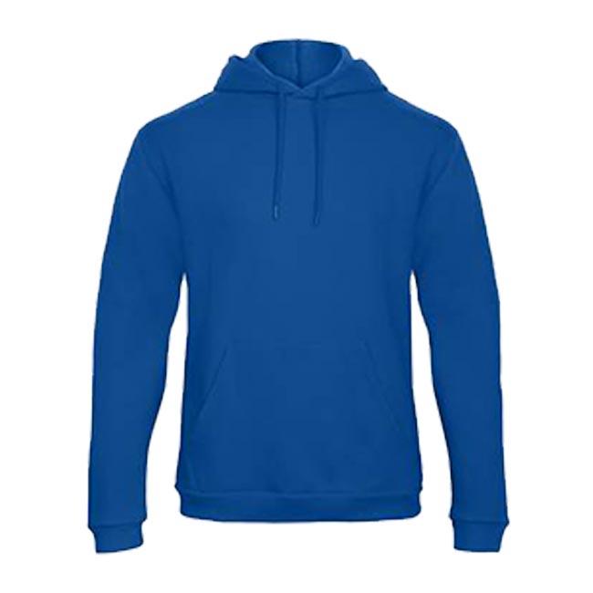 B&C-Hoodie-100%-katoen-blauw